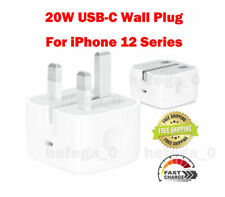 Genuine Apple A2244 20W Plug USB-C Mains UK Folding Travel Wall Charger Adapter