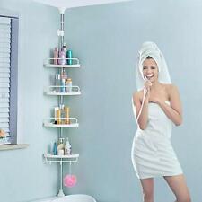 H&A Tension Shower Caddy Pole, Bathroom Corner Shower Rack, Stainless Steel