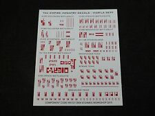 40K Tau Empire Vior'la Sept Infantry Decals / Transfer Sheet