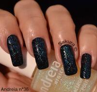 Vernis à ongles Andreia n°36 Glitter duochrome hypoallergénique 14ml