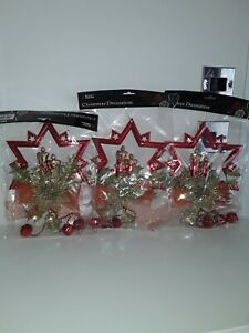 Christmas tree decorations bundle x 3