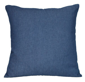 de07a Blue Plain Soft Cotton Jean Denim Cushion Cover/Pillow Case Tailor Made