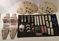 Vintage 1978 Star Wars Millennium Falcon Loose Parts Lot motor insert canopy