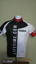 XS Extra Small Lifetime Products .Com Full Zip Cycling Jersey Shirt Black White