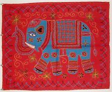 Único Elefante Indio Étnico Bordado Hippie Colgante De Pared-Rojo (EL10)