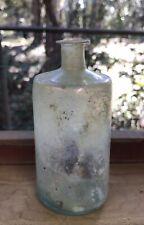Crude 1790's Dug Open Pontil Aqua Puff Bottle
