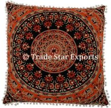 Indian 26x26 Square Mandala Tapestry Ethnic Cotton Cushions Decorative Pillows