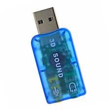 Scheda audio esterna USB 2 canali 2.0 5.1 virtuale 3D sound adattatore digitale