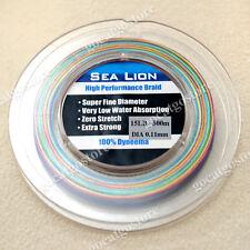 NEW Sea Lion 100% Dyneema Spectra Braid Fishing Line 500M 15LB Multi Color