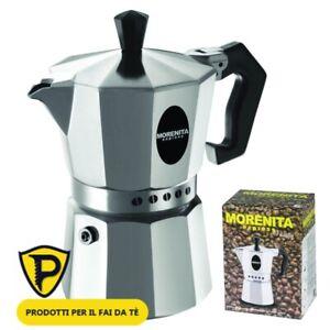 CAFFETTIERA MOKA BY BIALETTI MORENITA 1-2-3-6 TAZZE MACCHINA MACCHINETTA CAFFE'