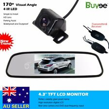 "Wireless HD IR LED Reversing Camera Car Rear View Kit + 4.3"" LCD Mirror Monitor"