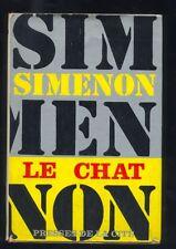 Georges Simenon, Le Chat ,1967   R