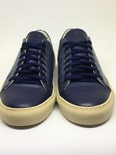 Dino Draghi Navy Pebbled Leather Men's Classic Lace-Up trainers UK size 7, UE 41