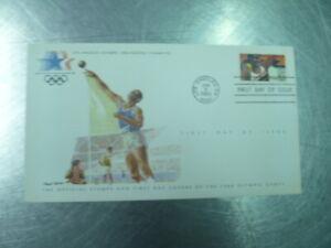 SHOT PUT ATHLETICS  COVER & STAMP LA POSTMARK 1984 OLYMPICS USA