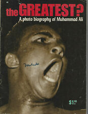 Muhammad Ali Autographed The Greatest Magazine JSA LOA COA