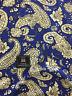 Royal Blue Paisley Design 100% Viscose Summer Printed Dress Fabric.