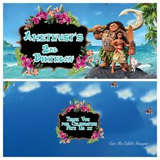 Moana Theme Personalised Chocolate 40g Bar Party Favor