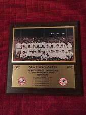 "1927 World Series New York Yankees Photo Card Plaque  12"" X 12""   RARE !!"