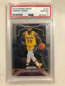 2019-20 Panini Prizm LeBron James Base Card PSA 10 - Invest - Lakers