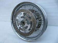 "Harley Davidson 17"" x 3 Chrome Front Laced Spoke Profile Wheel Touring Road King"