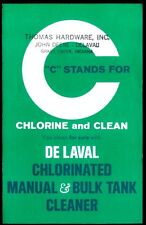 Rare Vintage 1967 De Laval Dairy Milking Machine Brochure Bulk Tank Cleaner