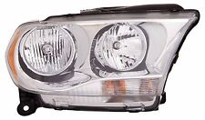 2011-2012 Dodge Durango Passenger Side Halogen Headlight Assembly Chrome Trim