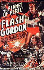 Vintage Flash Gordon La planète des périls Movie Poster A3 imprimer