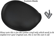 CARBON  FIBRE VINYL CUSTOM FITS TRIUMPH THUNDERBIRD 1600 1700 FRONT SEAT COVER