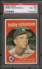 1959 Topps #076 Bobby Richardson PSA 8 NM-MT