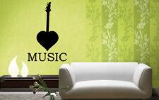 Music Sound Guitar Notes Positive Mural  Wall Art Decor Vinyl Sticker z648