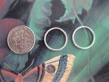Pair of Silver 18g  16 mm Endless Hoop Earrings