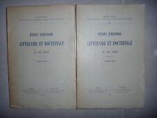 Moyen Âge: Etudes d'histoire littéraire et doctrinale du XIIIè,S 2 vol, 1932, BE