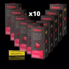 KIMBO Espresso NAPOLI 100 capsules Italian Coffee Free Shipping