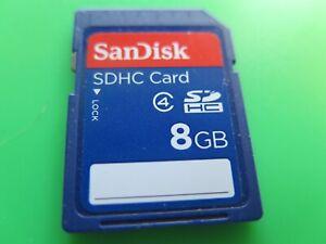 *GENUINE* SANDISK 8GB CLASS 4 SDHC SD MEMORY CARD *FREE + FAST 1ST CLASS P&P*