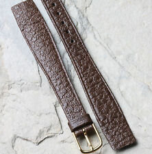 Ladies Hirsch watch band brown saddle leather 14mm open-ended for fixed lugs