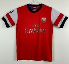 Arsenal Podolski 9 Fly Emirates Red Soccer Jersey Kids Youth Large