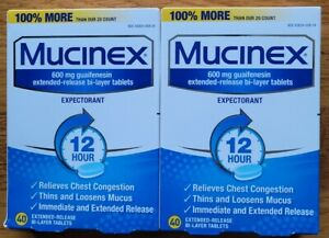 Mucinex 600 mg Expectorant Extended-Release Bi-Layer, 80 Tablets