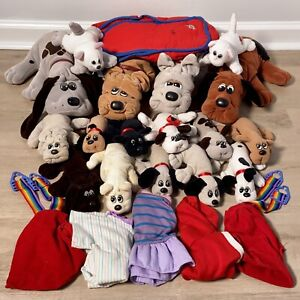 VINTAGE LOT 23 POUND PUPPIES items: Plush Dogs, Cats, Backpack, Clothing etc.