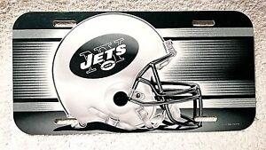 New NFL New York Jets Plastic Football Helmet Car Truck License Plate Auto Tag