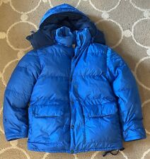 MINT RARE Vintage REI Blue Expedition Down Puffer Jacket Ripstop Nylon Gortex M
