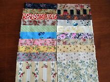 40 x 5' CHARM SQUARES 2 X20 Dainty Flowers 100% Cotton Fabric Sewing Material N3