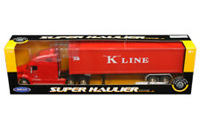 Freightliner Columbia Semi Truck Trailer Container Diecast 1:32 Welly 22inch Red