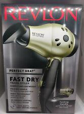 Revlon Perfect Heat Fast Dry Travel Styler, 1875 Watt, Folding Travel ~ NIOB