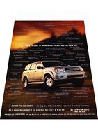 2001 Toyota Sequoia -  Vintage Advertisement Car Print Ad J424