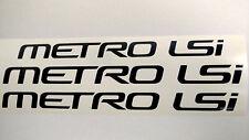 GEO decal METRO LSi hardtop CONVERTIBLE logo window sticker