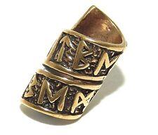 Wide Viking 100% Bronze Rune Beard Bead Ring - dreadlock hair