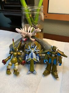 2000 Bandai Digimon The Miracle Four DigiSET Action Figures ALL MATCHING Numbers