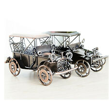 Vintage Car Automobile Model Home Decor Ornament Toy Metal Figurine Retro Gift
