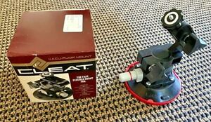 Woods Power Grip 4.5 Inch Black Rubber Vacuum Suction Cup w/ Mounting Arm - NEW