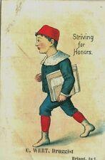 Burlington, VT Diamond Dyes, Striving for Honors, C.Wert, Druggist Briant, IN